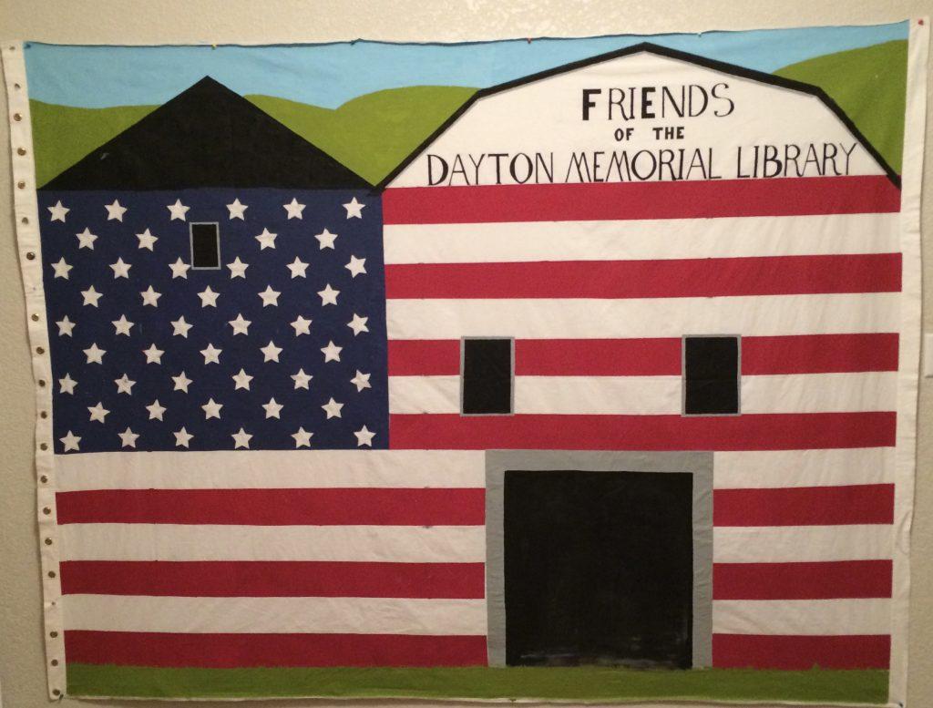 Barn painted like a flag
